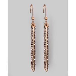 Rebecca Minkoff Pave Crystal Bar Earrings